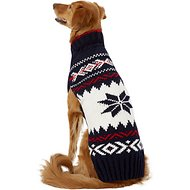 Chilly Dog Navy Vail Dog Sweater, X-Large