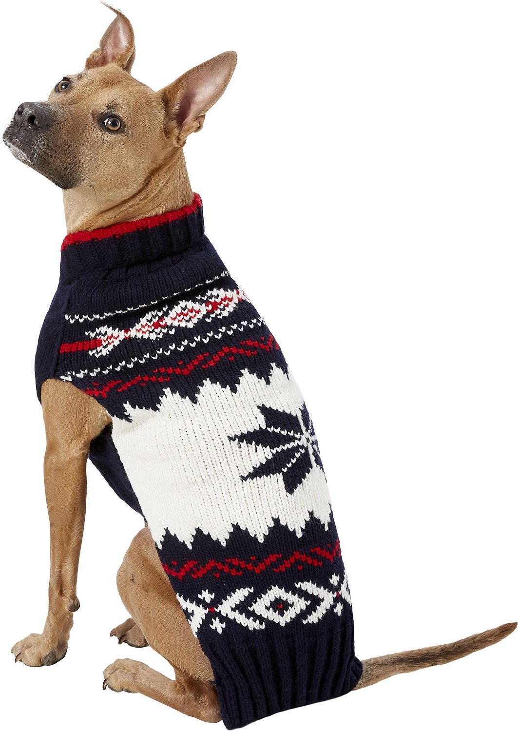Chilly Dog Navy Vail Dog Sweater Xx Large Chewycom