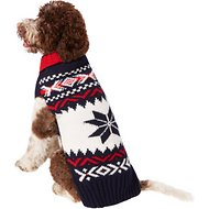 Chilly Dog Navy Vail Dog Sweater, 3X-Large