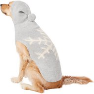 Chilly Dog Alpaca Grey Snowflake Dog Sweater, X-Large