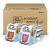 Purina Bella Bundle of Joy with Filet Mignon & Grilled Chicken Flavor Variety Pack Wet Dog Food Tray, 3.5-oz, case of 24