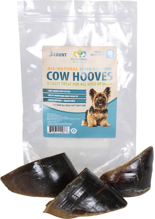 Gogo Pet Products 10 Count Natural Top Cut Cow Hooves For Pets