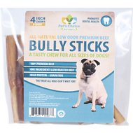 "Pet's Choice Naturals 4"" Low Odor Bully Stick Dog Treats, 8 count"