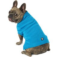 PetRageous Designs Baxter's Basic Dog & Cat Sweater, Medium, Teal