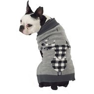 PetRageous Designs Buffalo Check Elk Dog Sweater, Small