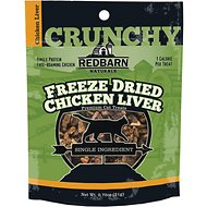 Redbarn Freeze Dried Crunchy Chicken Liver Cat Treats, 0.75-oz pouch