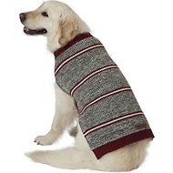 Eddie Bauer Marled Striped Dog Sweater, X-Large, Gray & Brick