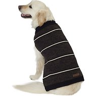 Eddie Bauer Marled Striped Dog Sweater, X-Large, Spice & Carbon