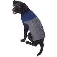 Eddie Bauer Two Tone Cable Dog Sweater, Medium, Indigo & Cider
