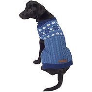 Eddie Bauer Snowflake Fair Isle Dog Sweater, Medium, Blue