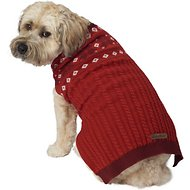 Eddie Bauer Snowflake Fair Isle Dog Sweater, Large, Red