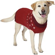 Eddie Bauer Snowflake Fair Isle Dog Sweater, X-Large, Red