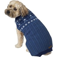 Eddie Bauer Snowflake Fair Isle Dog Sweater, X-Large, Blue