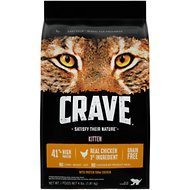 Crave with Protein from Chicken Kitten Grain-Free Dry Cat Food, 4-lb bag