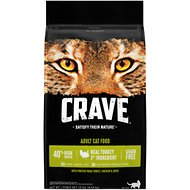 Crave with Protein from Turkey, Chicken & Duck Adult Grain-Free Dry Cat Food, 10-lb bag