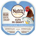 Nutro Perfect Portions Grain-Free Cuts in Gravy Chicken & Catfish Recipe Adult Cat Food Trays