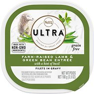 Nutro Ultra Farm-Raised Lamb Entree Grain-Free Adult Filets in Gravy Dog Food Trays, 3.5-oz, case of 24