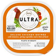 Nutro Ultra Grain-Free Filets in Gravy Deluxe Chicken Entree Adult Wet Dog Food Trays, 3.5-oz, case of 24