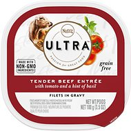 Nutro Ultra Grain-Free Filets in Gravy Tender Beef Entree Adult Wet Dog Food Trays, 3.5-oz, case of 24