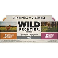 Wild Frontier by Nutro Chicken & Turkey Recipe Variety Pack Grain-Free High-Protein Adult Pate Cat Food Trays, 2.6-oz, case of 12 twin-packs