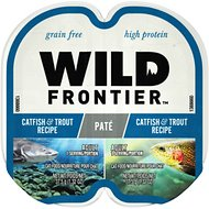 Wild Frontier by Nutro Catfish & Trout Recipe Grain-Free High-Protein Adult Pate Cat Food Trays, 2.6-oz, case of 24 twin-packs