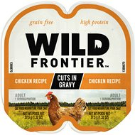 Wild Frontier by Nutro Chicken Recipe Grain-Free High-Protein Adult Cuts in Gravy Cat Food Trays, 2.6-oz, case of 24 twin-packs