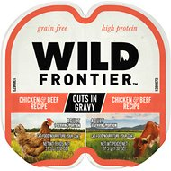 Wild Frontier by Nutro Chicken & Beef Recipe Grain-Free High-Protein Adult Cuts in Gravy Cat Food Trays, 2.6-oz, case of 24 twin-packs