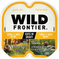 Wild Frontier by Nutro Turkey & Duck Recipe Grain-Free High-Protein Adult Cuts in Gravy Cat Food Trays, 2.6-oz, case of 24 twin-packs