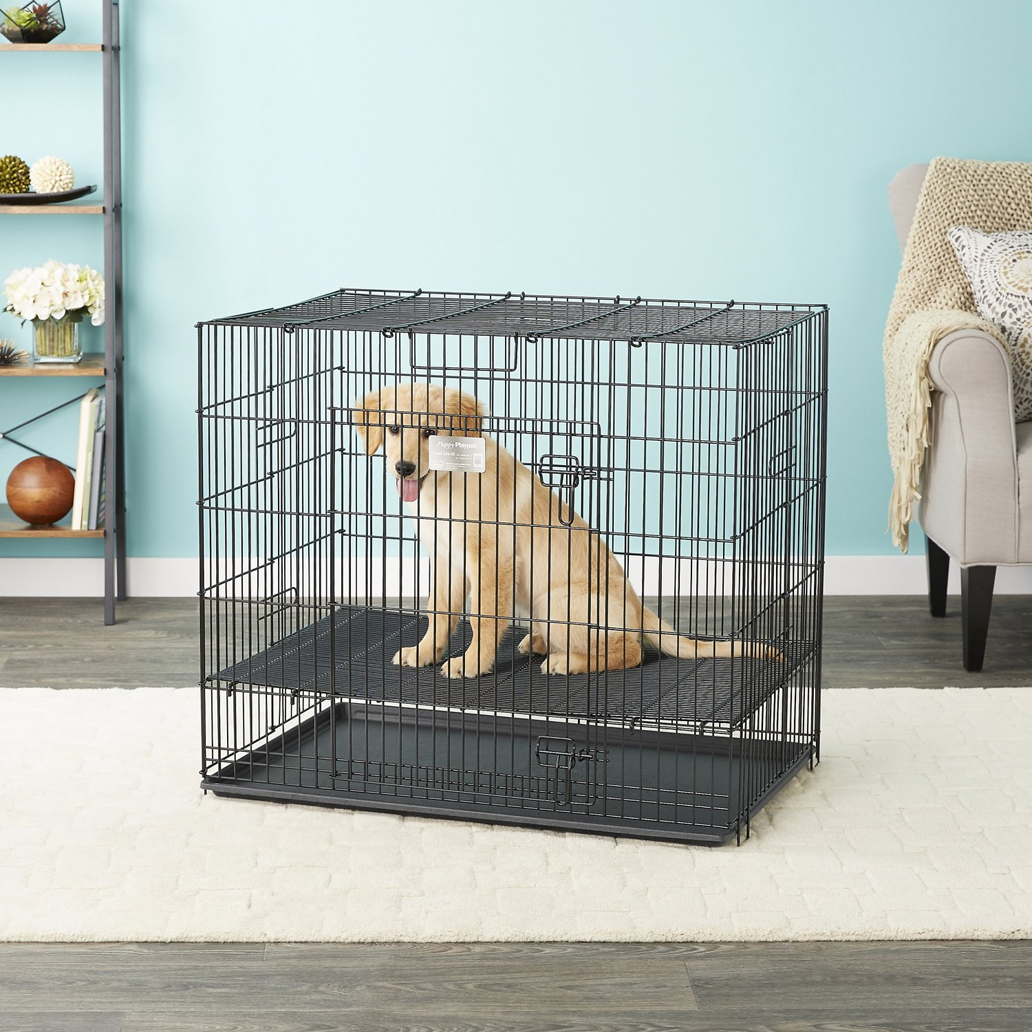 Midwest Puppy Playpen With Floor Grid Small 1 2 In Floor Grid