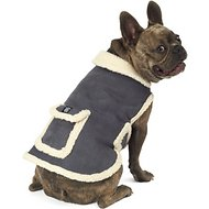 PetRageous Designs Acadia Faux Dog Bomber Jacket, Medium, Gray