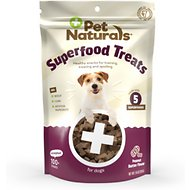 Pet Naturals of Vermont Peanut Butter Recipe Superfood Dog Treats, 120 count