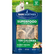 Barkworthies Rabbit Jerky Recipe with Apple & Kale Blend Dog Treats, 1-oz bag