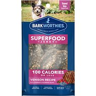 Barkworthies Venison Jerky Recipe with Blueberry & Cranberry Blend Dog Treats, 1-oz bag