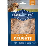 Barkworthies Bully Delights Dog Treats, 8-oz bag