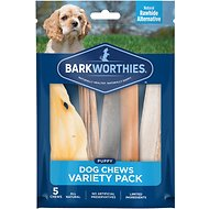 Barkworthies Puppy Variety Pack Natural Dog Chews, 5 count