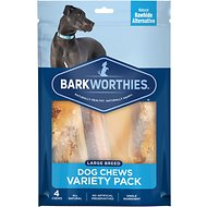 Barkworthies Large Breed Variety Pack Natural Dog Chews, 4 count