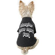 "Fab Dog ""Blondes Have More Fun"" Dog T-Shirt, 8-in"