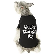 "Fab Dog ""Blondes Have More Fun"" Dog T-Shirt, 14-in"