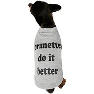 "Fab Dog ""Brunettes Do It Better"" Dog T-Shirt, 8-in"