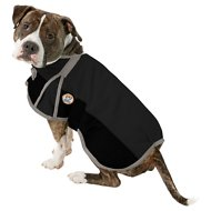 Derby Originals 600D Waterproof Dog Blanket Coat, 17.5-in, Black/Grey