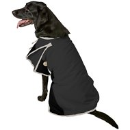 Derby Originals 600D Waterproof Dog Blanket Coat, 26.5-in, Black/Grey