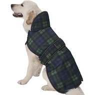 PetRageous Designs Kodiak Dog Coat, X-Large, Green Plaid