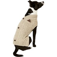 Harry Barker Tan Cardigan Knit Dog Sweater, Large