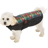 Ultra Paws WeatherMaster Reflective Plaid Dog Coat, Small