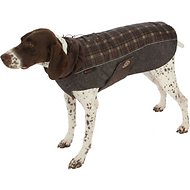 Ultra Paws Fleece Comfort Dog Coat, Medium, Brown Plaid