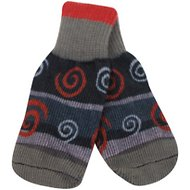Ultra Paws Oakley Print Dog Socks, X-Small, Grey & Red