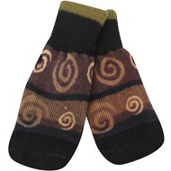 Ultra Paws Oakley Print Dog Socks, Large, Brown & Black