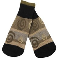 Ultra Paws Oakley Print Dog Socks, Large, Tan & Brown
