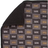 Ultra Paws MyBlankie! T-Bone Dog Blanket, Large, Black