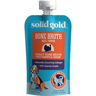 Solid Gold Turkey Bone Broth with Pumpkin & Ginger Dog Food Topper, 8-oz pouch